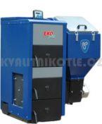 Kotel se zásobníkem OGNIWO EKO PLUS -25 palivo topná směs a eko-hrášek 25kW Modul pro připojení na internet